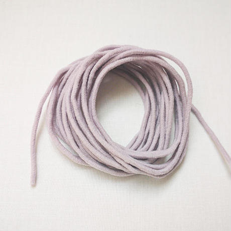 薄紫のマスクゴム 3mカット