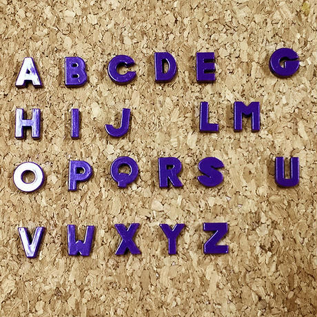 【8mmスライドチャーム】紫アルファベット