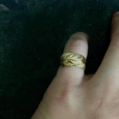 【予約】HARIM  Owl Feather ring SMALL  GP