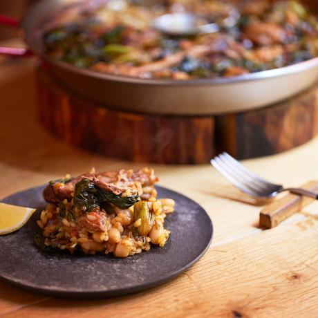 極旨ミールキット 山のごはん『鴨肉とほうれん草と白インゲン豆のパエージャ』2~3名用