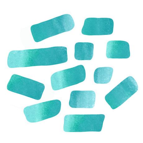 ペタペタ ウォーターカラー BLUE GREEN