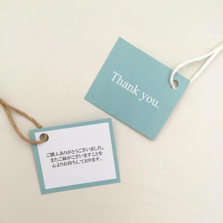 【50枚】サンキューカード タグ 【ブルー】裏面メッセージ入り