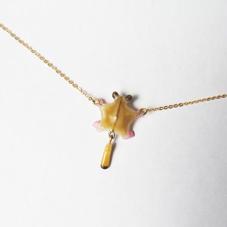飛ぶフクロモモンガネックレス ノーマル(チェーン約55cm)