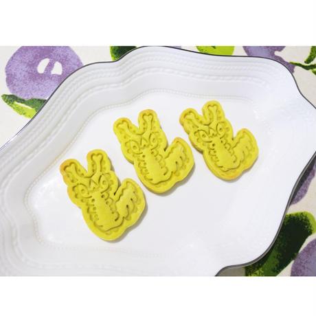 オオムラサキ幼虫スタンプクッキー型