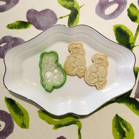 ヒルヤモリスタンプクッキー型  模様なし