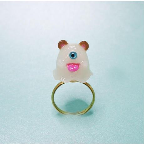 クマおばけちゃんリング(フリーサイズ)(蓄光塗料使用)