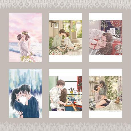 ◆送料無料◆平泉春奈デザイン☆ポストカード6枚セット☆ミニメッセージカード付き