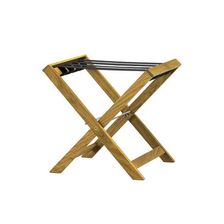 TRINAL stool / Leather / Oak