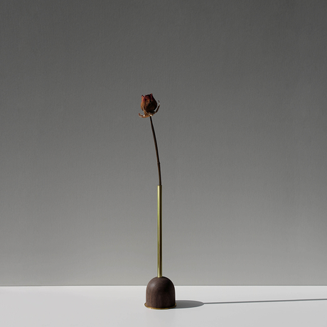 FUNNEL bud vase / L  / Walnut