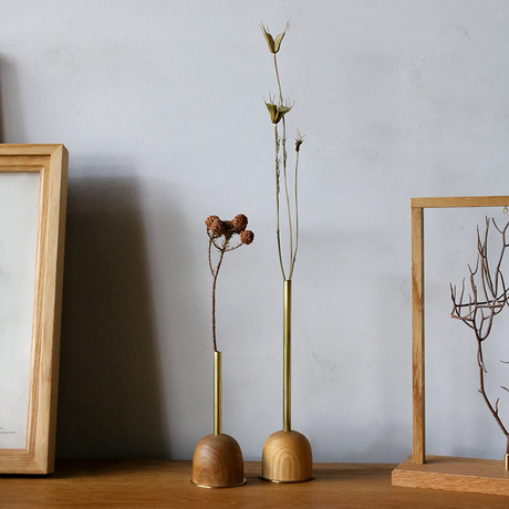 FUNNEL bud vase / L  / Cherry