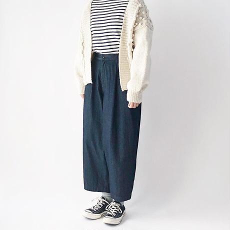 DENIM WIDE EGG LONG PANTS  A21702