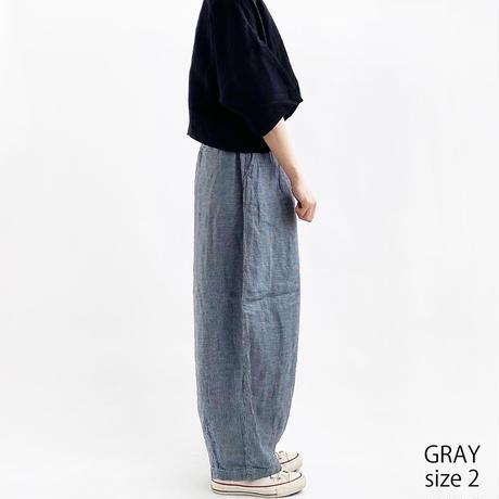 【2021春夏】LINEN HOUNDSTOOTH CIRCUS PANTS(リネン千鳥柄サーカスパンツ)A12111