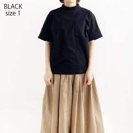 【2021 春夏】MOCK NECK  BOX TEE(モックネック ボックスT)A52101