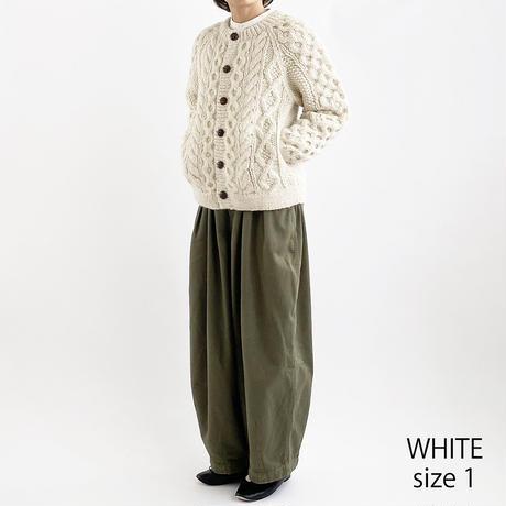 【2020秋冬】CABLE KNIT CARDIGAN(手編みケーブルニット カーディガン) A62001