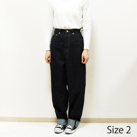 CLASSICAL DENIM PANTS  (LOOSE TAPERED)  A21801