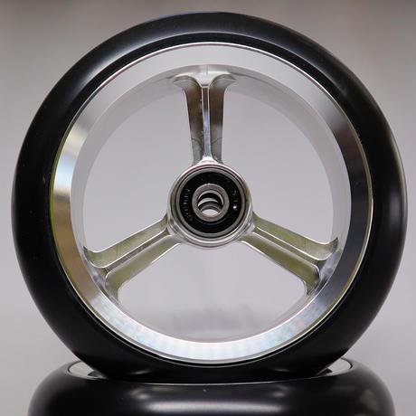 【dLITEキャスター】5インチ シルバー 軽量・軽い転がり・リーズナブルな車いす用ワイドキャスター