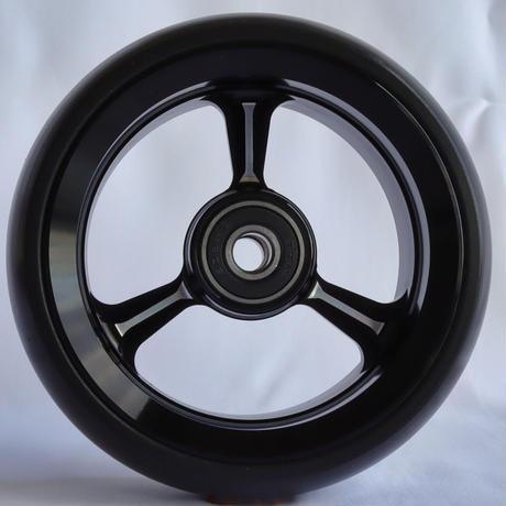 【dLITEキャスター】4インチ ブラック 軽量・軽い転がり・リーズナブルな車いす用ワイドキャスター