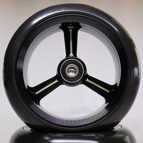 【dLITEキャスター】5インチ ブラック 軽量・軽い転がり・リーズナブルな車いす用ワイドキャスター