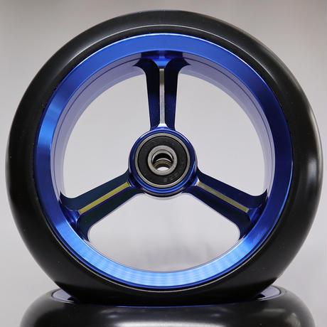 【dLITEキャスター】5インチ ブルー 軽量・軽い転がり・リーズナブルな車いす用ワイドキャスター