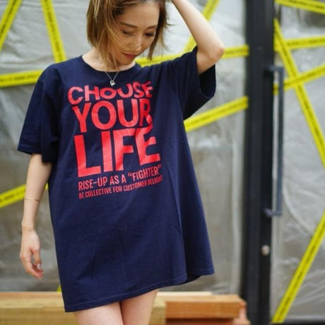 CHOOSE YOUR LIFE Original/navy×red