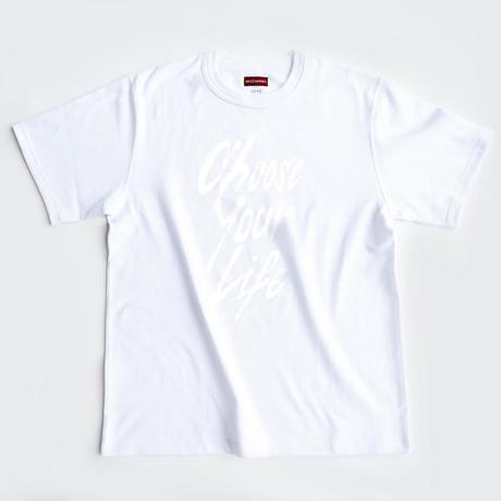 【BOOT CAMP Tshirt】CHOOSE YOUR LIFE /black・white・black×black・white×white