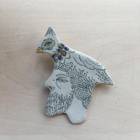 eriko ogata ブローチsmall(鳥)