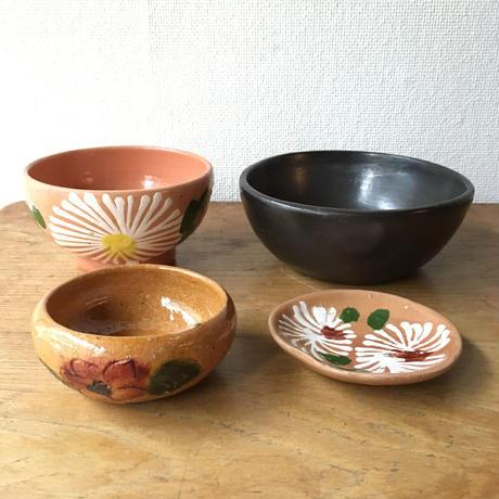 オアハカ市内や近隣の素朴陶器4セット