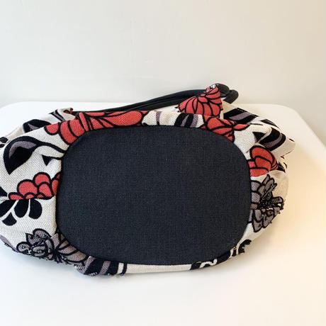 ビーズ刺繍トートバッグ(ホワイトレッド)