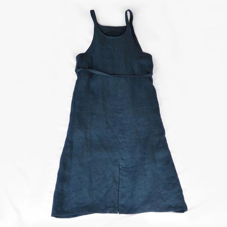 【再入荷】リネンへリンボーンジャンパースカート  NV