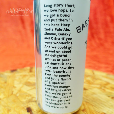 "CAN#96 『LONG STORY SHORT.』 ""ロングストーリーショート"" HAZY IPA/6.6%/473ml by BAERLIC Brewing."