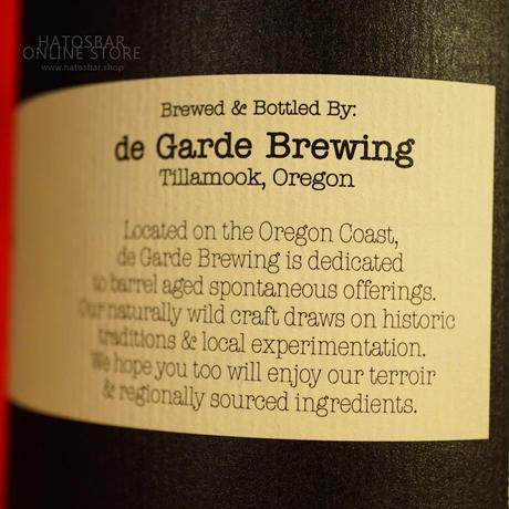 """BOTTLE#126 『The Blackberry』 """"ザ ブラックベリー"""" Spontaneous wild ale/6.8%/750ml by de Garde Brewing."""