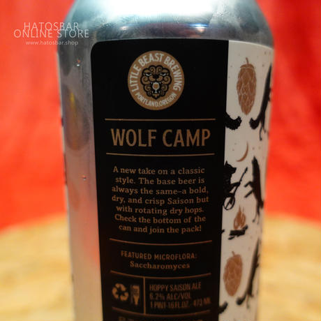 "CAN#53『WOLF CAMP』""ウルフキャンプ"" Hoppy saison/6.2%/473ml by LITTLE BEAST Brewing"