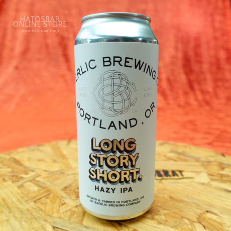 "CAN#96 『LONG STORY SHORT.』 ""ロングストーリーショート"" HAZY IPA/6.6%/473ml by BAERLIC Brewing."