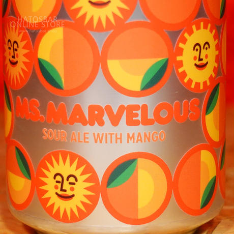 """CAN#140『MS.MARVELOUS』""""ミスマーベラス"""" Sour Ale with Mango /5.5%/473ml by LITTLE BEAST Brewing."""