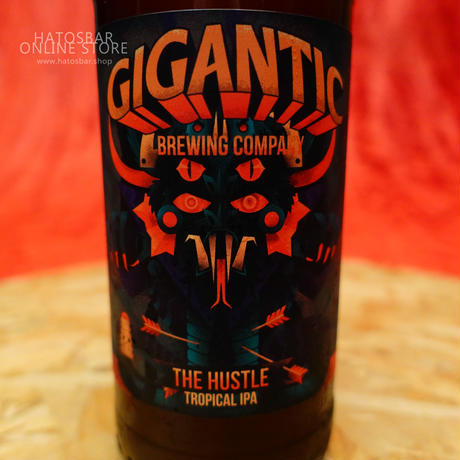"BOTTLE#50 『THE HUSTLE』""ジ ハッスル"" TROPICAL IPA. alc. 6.3%/500ml by GIGANTIC Brewing."