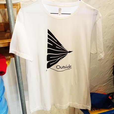 -HATOS outside Tee- WHITE -ハトスアウトサイド Tシャツ- ホワイト