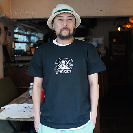 """ HATOSBAR Ninja T-SHIRTS  ""ハトスバー  忍者 Tシャツ "" Black"