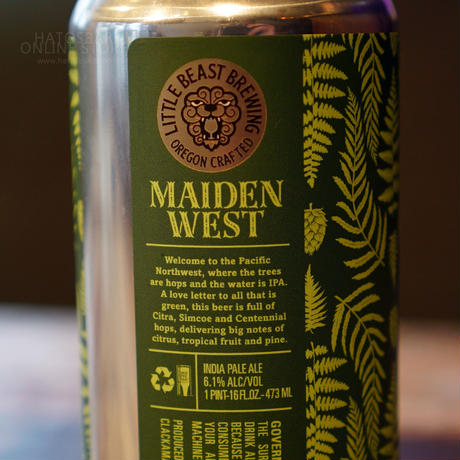 "CAN#93『Maiden West IPA』""メイデンウェストIPA"" West Coast IPA/6.1%/473ml by LITTLE BEAST Brewing"