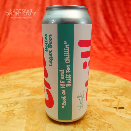"""CAN#57 『Chill』 """"チル"""" Helles lager/4.5%/473ml by BAERLIC Brewing."""