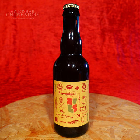 """BOTTLE#148『IVES blend six』""""アイヴス ブレンド6"""" American Barrel-Aged Sour /7.0%/375ml by UPRIGHT Brewing."""