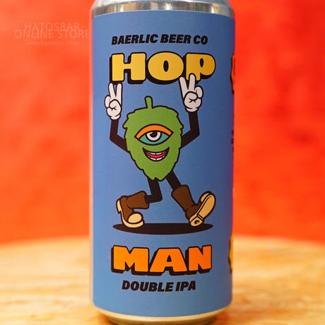 "CAN#149 『HOP MAN Blue IIPA』 ""ホップマンブルー""  DOUBLE IPA/8.0%/473ml by BAERLIC Brewing."