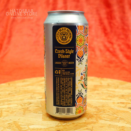 "CAN#59『Czech-Style Pilsner』""チェコスタイル ピルスナー"" Pilsner lager/4.8%/473ml by LITTLE BEAST Brewing"