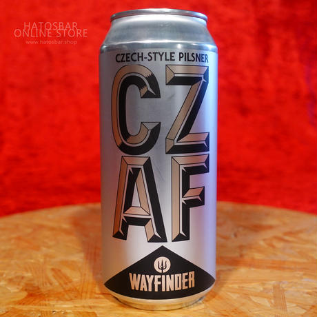 """CAN#142『CZ AF』""""シーズィーエーエフ"""" CZECH-STYLE PILSNER/4.9%/473ml by WAYFINDER Beer."""