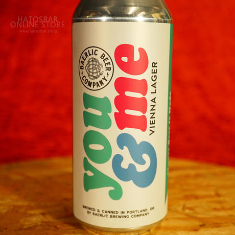 """CAN#130 『you & me』 """"ユーアンドミー""""  Vienna Lager/5.1%/473ml by BAERLIC Brewing."""