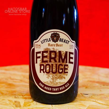 """BOTTLE#44『FERME ROUGE』""""フェームルージュ"""" Oak-Aged Tart Red Ale/7.5%/375ml by LITTLE BEAST Brewing"""