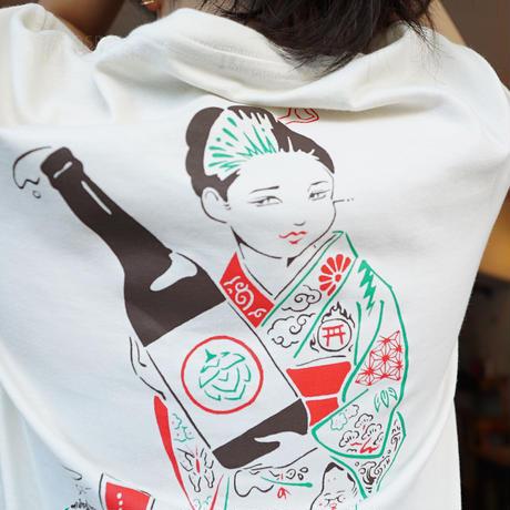 """"""" HATOSBAR Ninja T-SHIRTS  """"ハトスバー  忍者 Tシャツ """" White"""