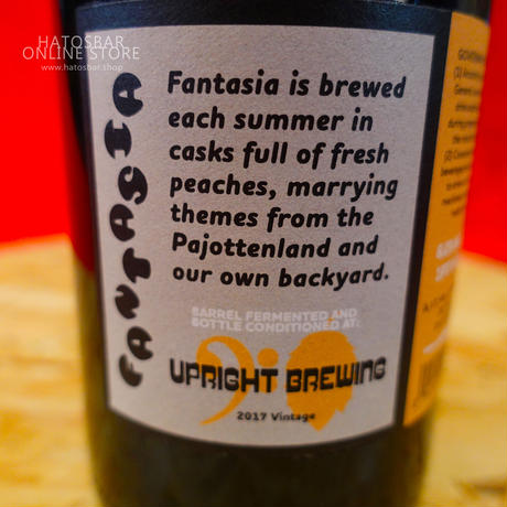 "BOTTLE#17『Fantasia』""ファンタジア"" American Wild Ale/6.0%/750ml by UPRIGHT Brewing."
