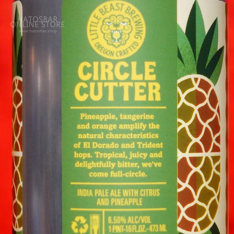 """CAN#138『CIRCLE CUTTER』""""サークルカッター"""" IPA /6.5%/473ml by LITTLE BEAST Brewing."""