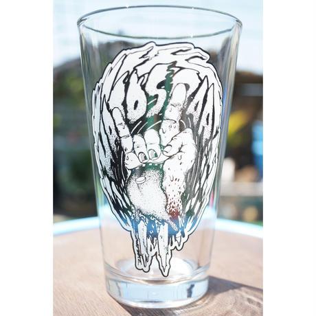 HATOSBAR Original PINT GLASS x2セット art work by ragelow (HATOS) ハトスバー  オリジナル パイント グラス2個セット