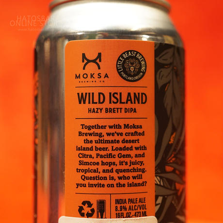 "CAN#168『WILD ISLAND』""ワイルドアイランド"" Hazy Brett DIPA /8.9%/473ml by LITTLE BEAST Brewing."